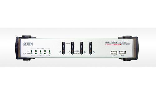 Aten 4-Port USB VGA/Audio KVME Switch with Ethernet Hub
