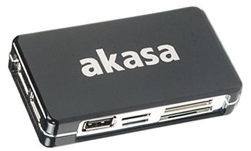 Akasa Connect 9 Multi-card reader and 3 Port USB Hub combo