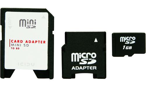 Icidu MicroSD 1GB + 2 adapters