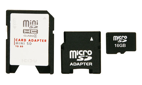 Icidu MicroSDHC Class 2 16GB + 2 adapters