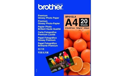 Brother BP61GLA Paper Glossy Foto A4 20 sheets