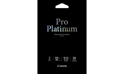 Canon PT-101 Pro Platinum Photo Paper 10x15cm 20 sheets