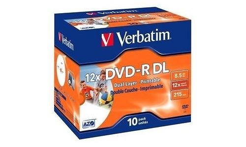 Verbatim DVD-R DL 12x 10pk Jewel case