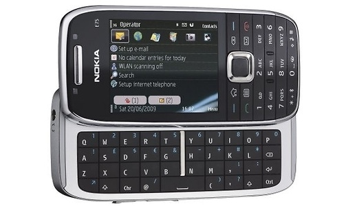 Nokia E75 Silver/Black BE