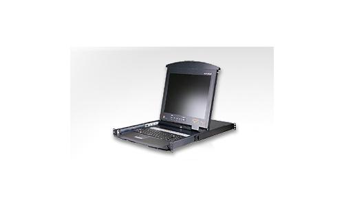 Aten 1-Local/1-Remote Access 8-Port PS/2 VGA Dual Rail LCD KVM over IP Switch
