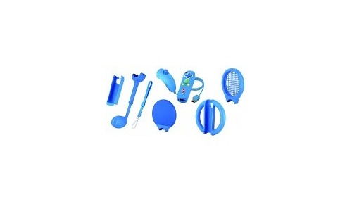BigBen Mini Wiimote & Nunchuk Kids Blue