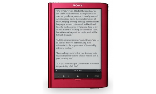Sony PRS-650 Reader Touch Edition Red