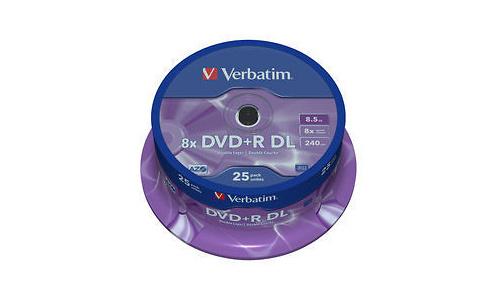 Verbatim DVD+R DL 8x 25pk Spindle