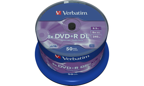 Verbatim DVD+R DL 8x 50pk Spindle