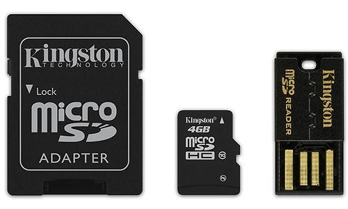 Kingston 4GB MicroSDHC Class 10 Mobility kit