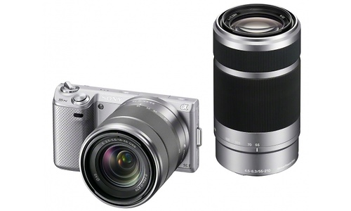 Sony NEX-5N 18-55 + 55-210 kit Silver