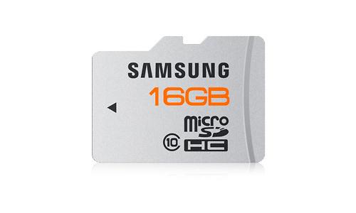 Samsung MicroSDHC Class 10 16GB + Adapter