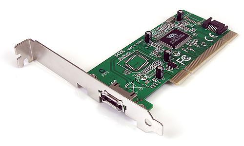 StarTech.com 1 Port eSATA + 1 Port SATA PCI SATA Controller Card