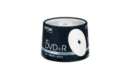 TDK DVD+R 16x 50px Printable Spindle