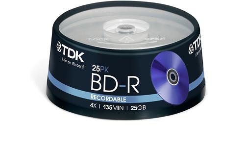 TDK BD-R 4x 25pk Spindle