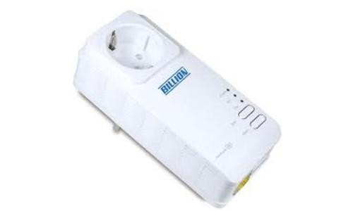Billion HomePlug AV 200Mbps Wall Plug Ethernet Adapter with AC Pass Thru