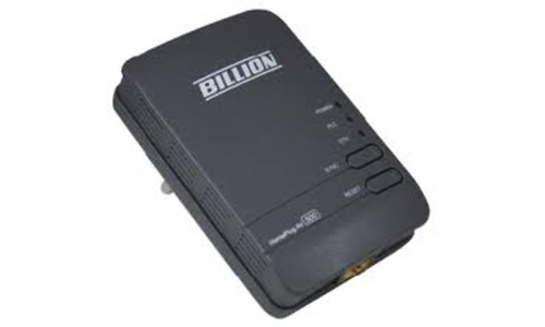 Billion HomePlug AV 500Mbps Gigabit Ethernet Wall Plug Adapter