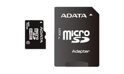 Adata MicroSDHC Class 10 16GB + Adapter