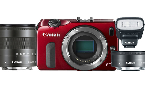 Canon Eos M 18-55 + 22mm kit Red