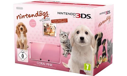 Nintendo 3DS Pink + Nintendogs Retriever