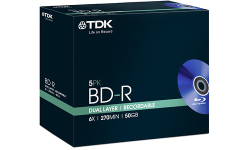 TDK BD-R DL 6x 5pk Jewel case