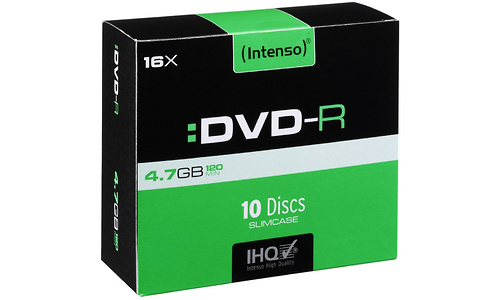 Intenso DVD-R 16x 10pk Slim case
