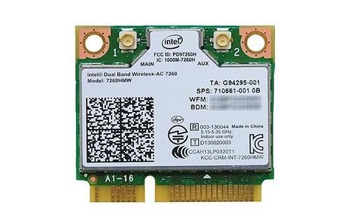 Intel Dual Band Wireless-AC 7260 (Mini PCIe x1)