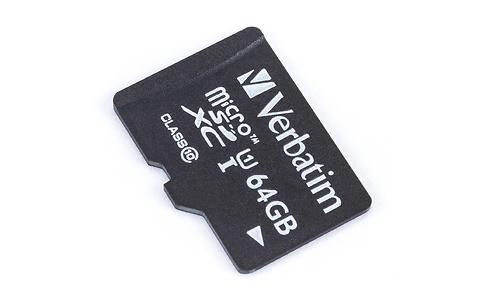 Verbatim MicroSDXC UHS-I 64GB + Adapter