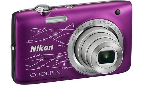 Nikon Coolpix S2800 Purple Line art