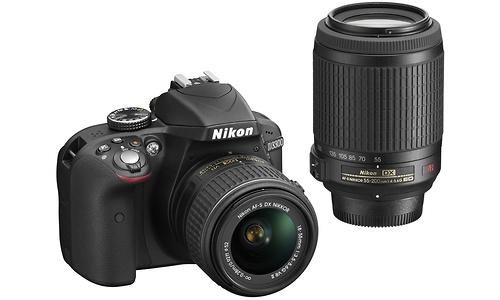 Nikon D3300 18-55 VR II + 55-200 VR kit Black