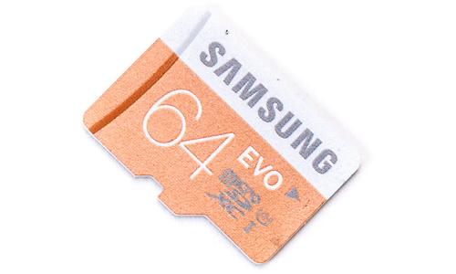 Samsung Evo MicroSDXC UHS-I 64GB + Adapter
