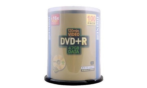 Maxell DVD+R 16x 100pk Spindle