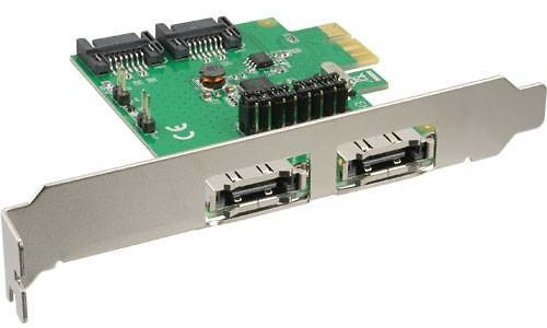 InLine 2-Port SATA + 2-Port eSATA PCI-e Card
