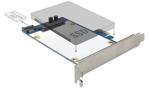"""Delock 1x 2.5"""" SSD Controller PCI-e Card"""