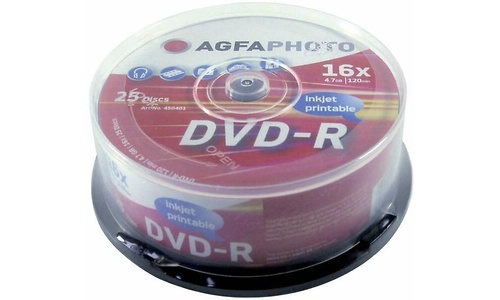 AgfaPhoto DVD-R 16x 25pk Spindle