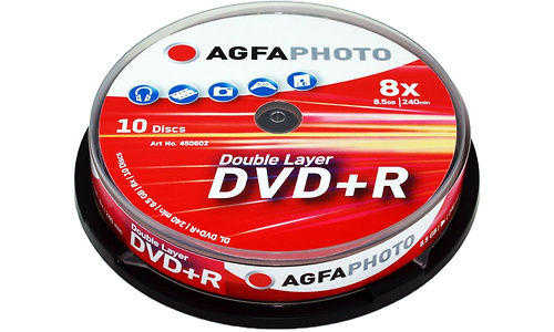 AgfaPhoto DVD+R 8x 10pk Spindle