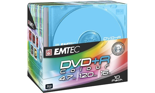 Emtec DVD+R 16x 10pk Slim Case