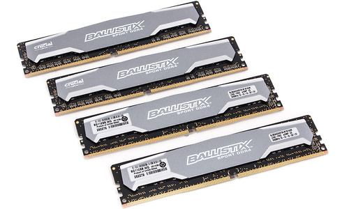 Crucial Ballistix Sport 32GB DDR4-2400 CL16 quad kit