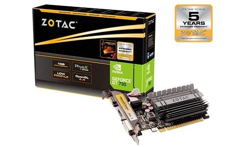Zotac GeForce GT 730 LP Zone Edition Passive 1GB