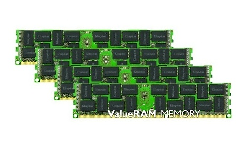 Kingston ValueRam 64GB DDR3L-1333 CL9 ECC Registered quad kit
