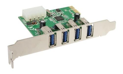 InLine 4-Port USB 3.0 PCI-e Card Low Profile