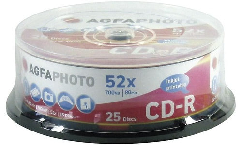 AgfaPhoto CD-R 52x 25pk Spindle