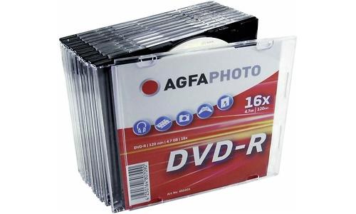 AgfaPhoto DVD-R 16x 10pk Slim Jewel Case