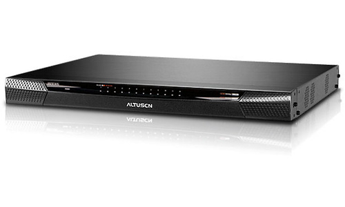 Aten 1-Local/2-Remote Access 24-Port Cat 5 KVM over IP Switch with Virtual Media (1600 x 1200)