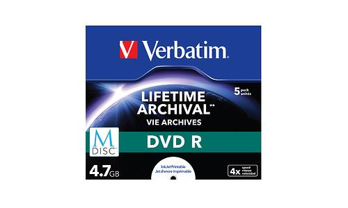 Verbatim DVD M-Disc 4x 5pk Jewel Case