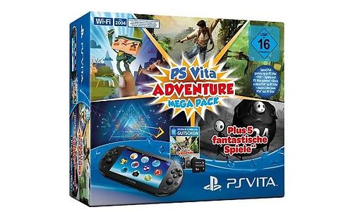 Sony PlayStation Vita + Mega Pack Adventure + 8GB Black