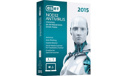 Eset NOD32 Antivirus 2015 Edition 3-user (1-year)