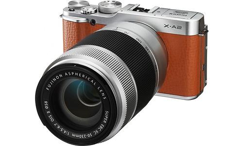 Fujifilm X-A2 16-50 + 50-230 kit Silver/Brown