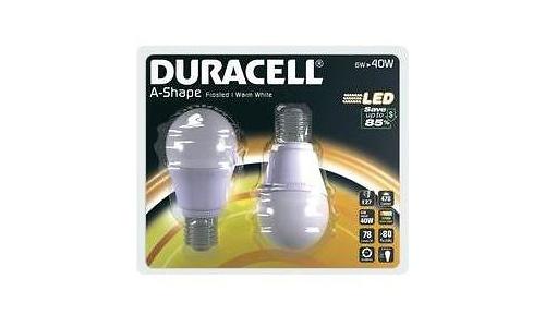 Duracell LED E27 Pear 6W Warm White