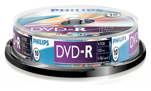Philips DVD-R 16x 10pk Spindle